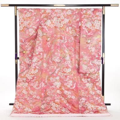花嫁 正絹 色打掛 010055 ピンク 源氏物語 若紫
