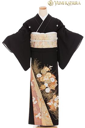 正絹 黒留袖 5紋 120086 【プレミアム】 桂由美・荘厳