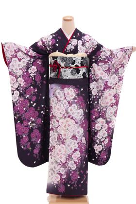 正絹・振袖【2月-12月】140100 FAINAL STAGE 紫 桜