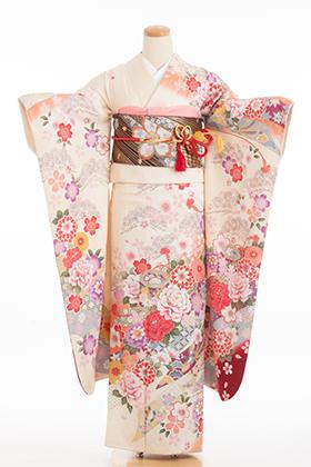 成人式用 振袖 140111-S オフホワイト 王朝 熨斗