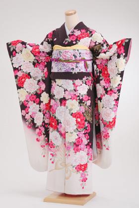 成人式用 振袖 140124-S ヒロミチナカノ 茶色地 蝶