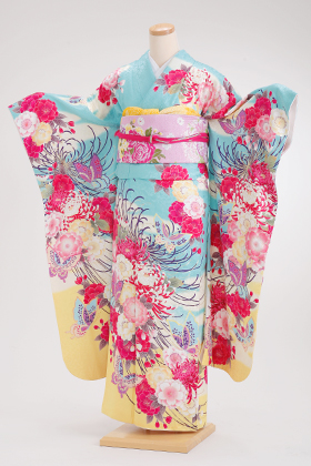 成人式用 振袖 140136-S スザンヌSHY 紗衣 水色地 乱菊