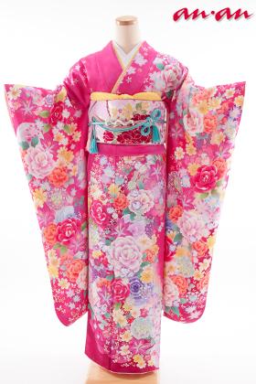 正絹・振袖【2月-12月】140146 ananブランド 和つう ピンク