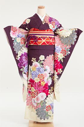 成人式用 振袖 140209-S 山本美月 牡丹 疋田菊 YM-4