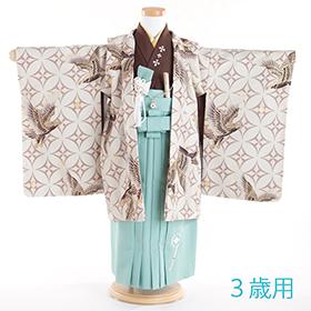 七五三 着物 3歳 紋付・袴 310053 清武 鷹に七宝 ベージュ KD-1