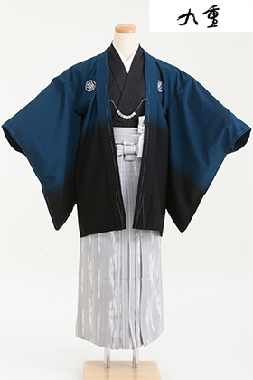 卒業式 小学生 袴 青 グレー