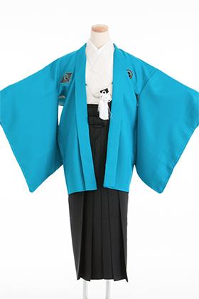 卒業式 小学生 袴 青