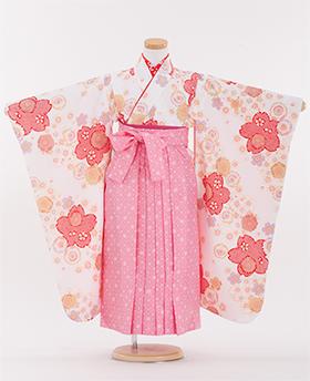 卒園式 袴 白色 ピンク