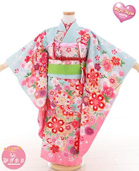 七五三 着物 7歳 四つ身セット 320069 本田望結 和がまま Miyu Style 水色 まり