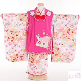 七五三 着物 3歳 被布セット 320084 乙葉 ピンク 桧扇刺繍被布 HF-1