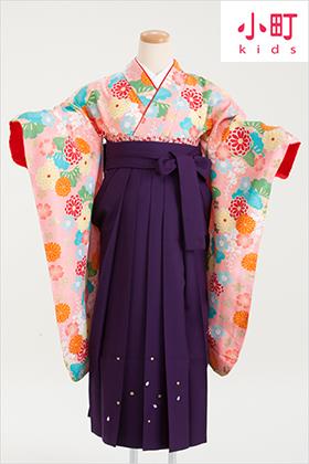 卒業式 小学生 袴 紫