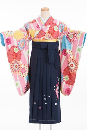卒業式 小学生 袴 ピンク 紺