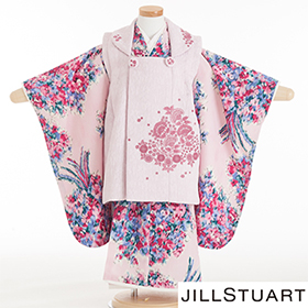 七五三 着物 3歳 被布セット 320163 JILLSTUART ピンク・ブルー・花柄