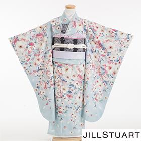 七五三 着物 7歳 四つ身セット 320166 JILLSTUART 水色 桜柄