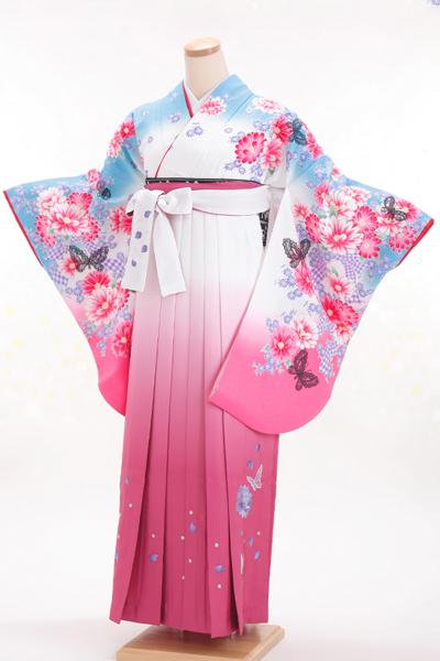 卒業式 袴 白色 ピンク