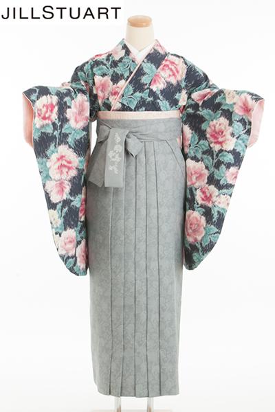 卒業式 袴  グレー 紺