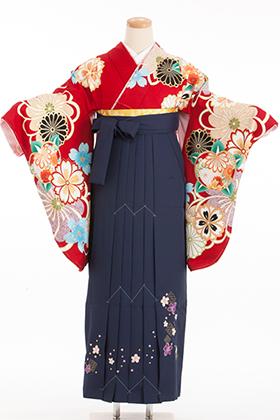 卒業式 袴 紺 赤