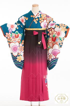卒業式 袴 赤 青
