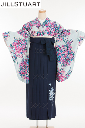 卒業式 袴 ブルー 紺