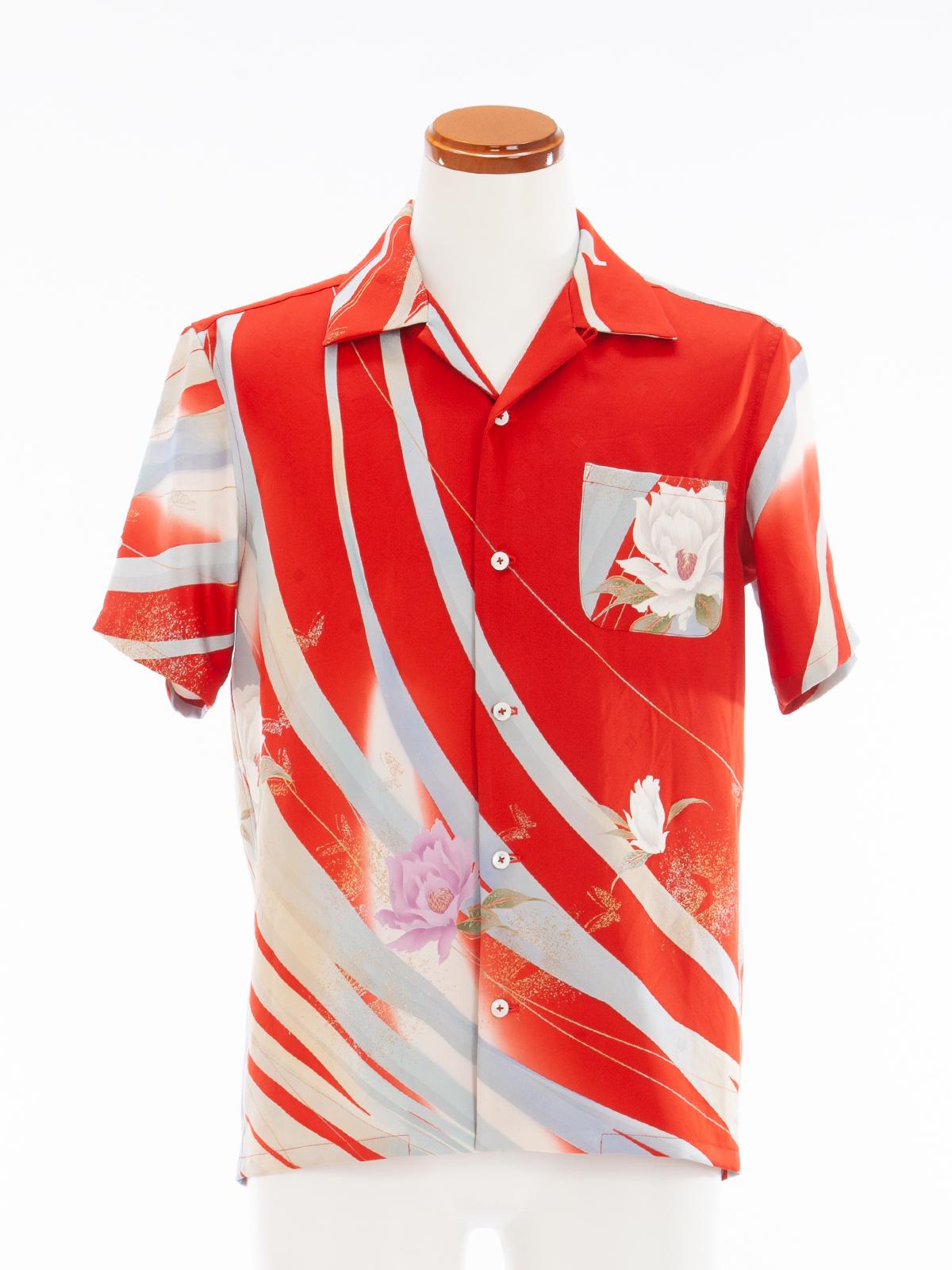 着物アロハシャツ「ギ・ラロッシュ 薔薇」AH100041