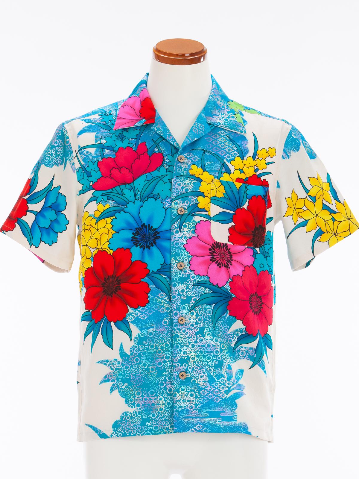 着物アロハシャツ「南国パラダイスB」AH100051