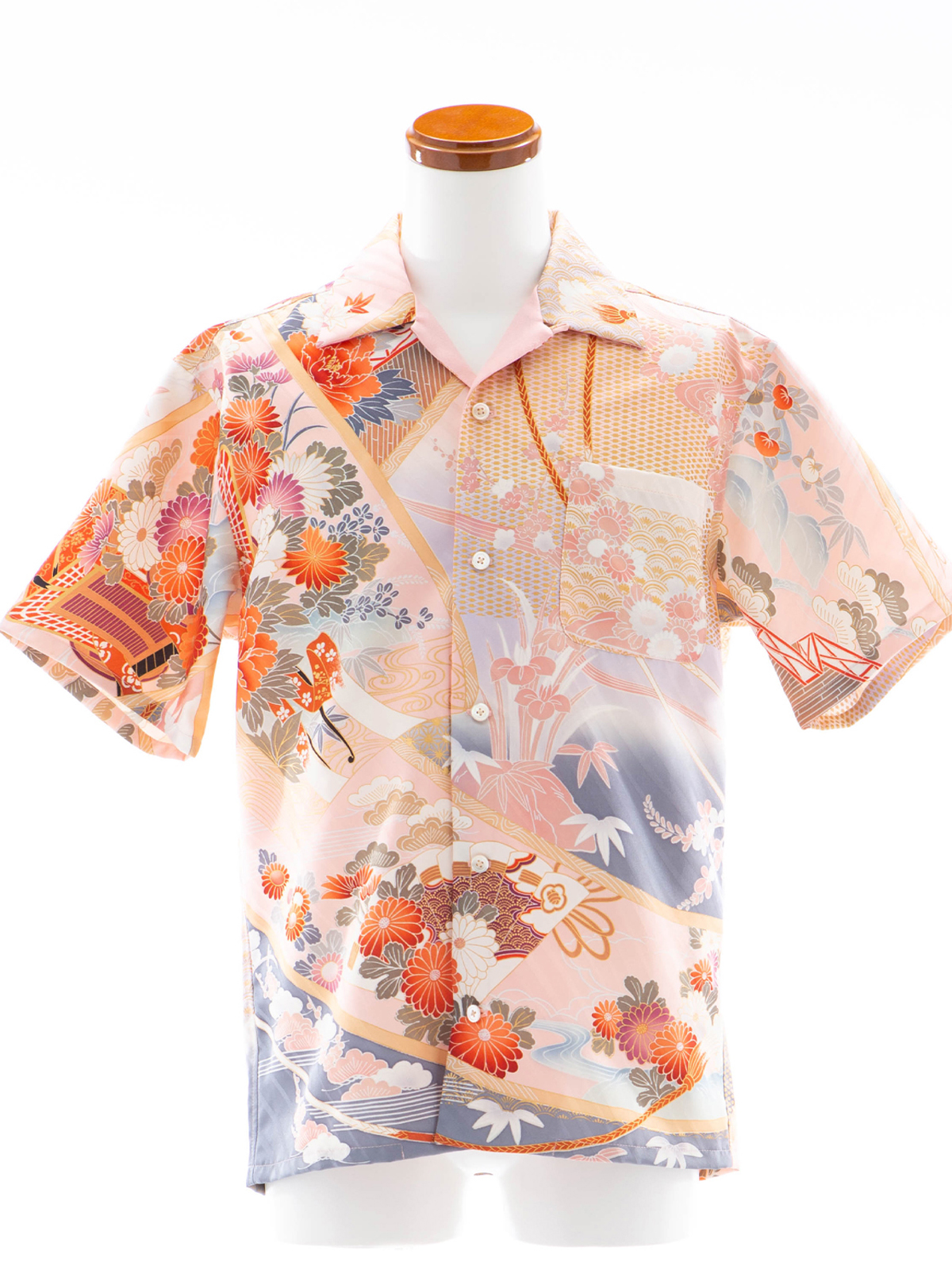 着物アロハシャツ「菊の流れ」AH100055