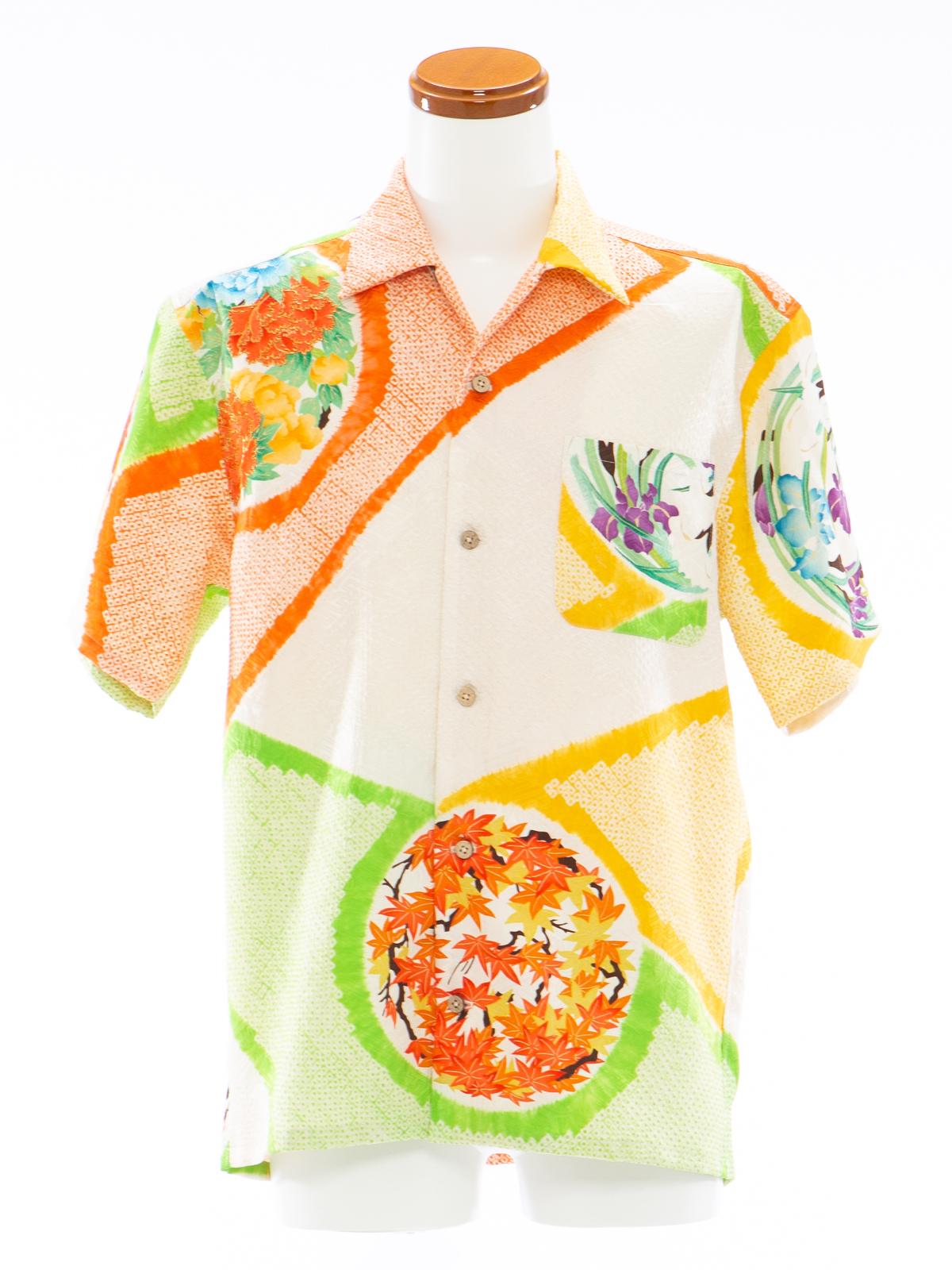 着物アロハシャツ「柑橘ポップB」AH100066
