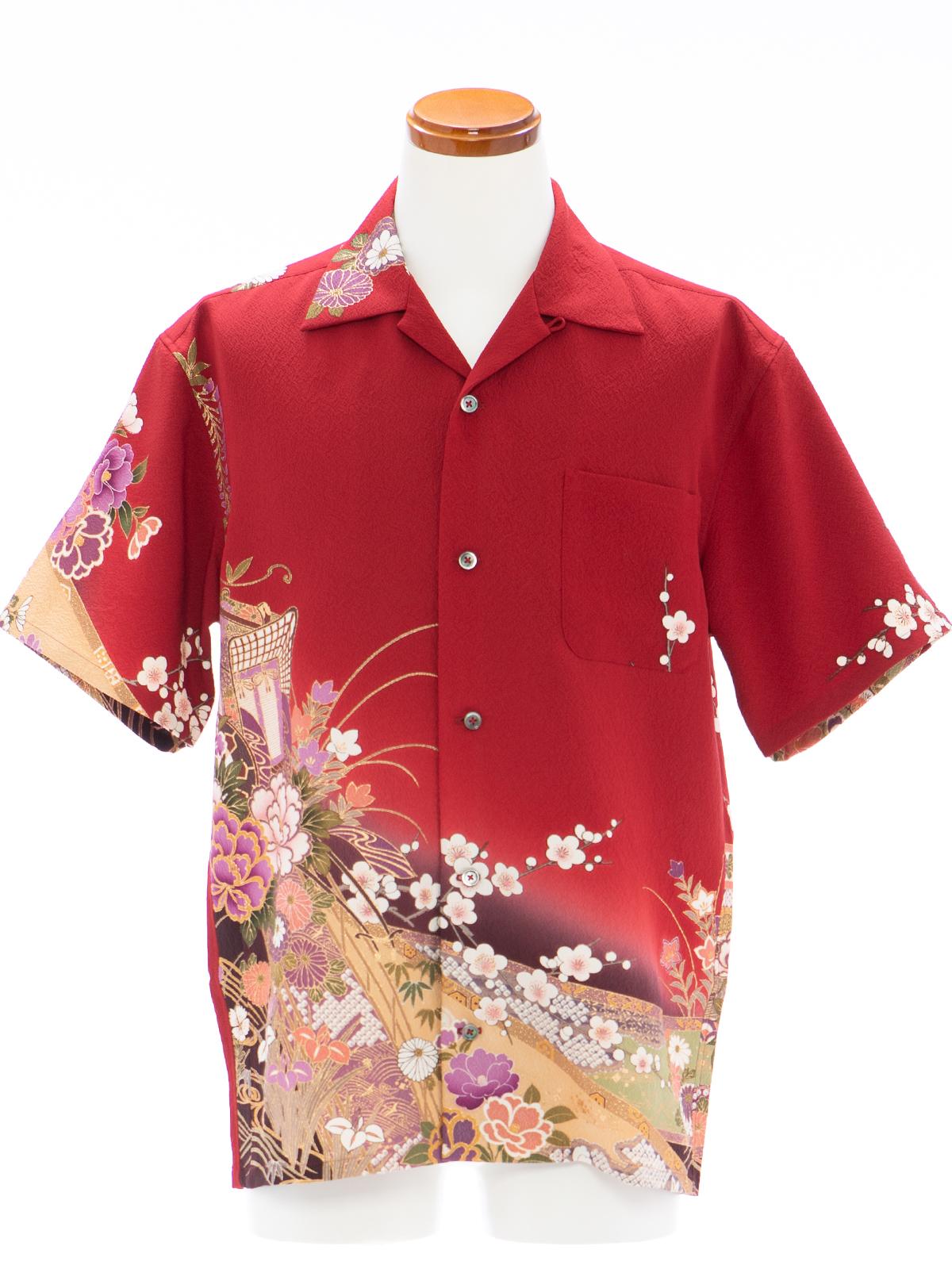 着物アロハシャツ「花道を渡って」AH100086