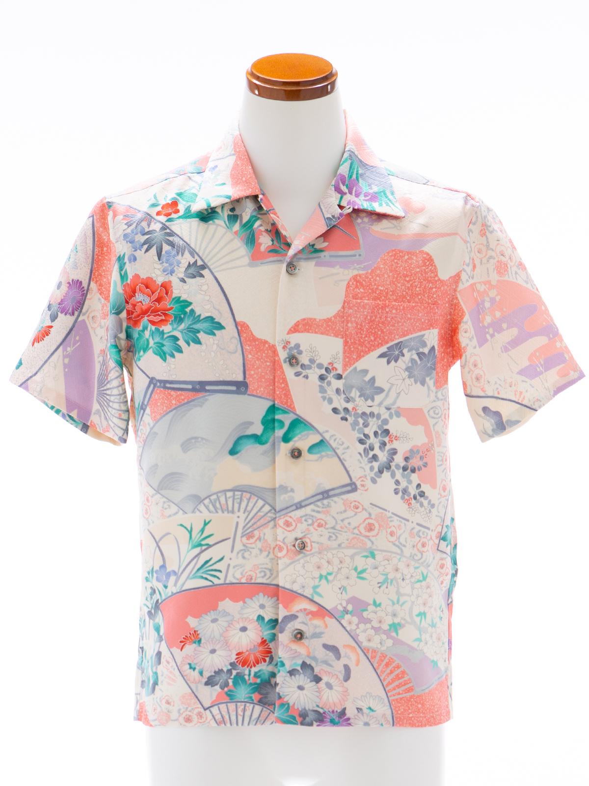 着物アロハシャツ「四季を写す扇A」AH100091