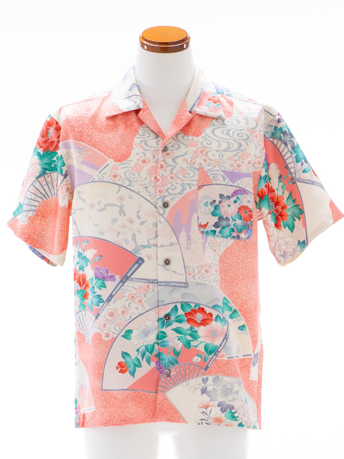 着物アロハシャツ「四季を写す扇B」AH100092