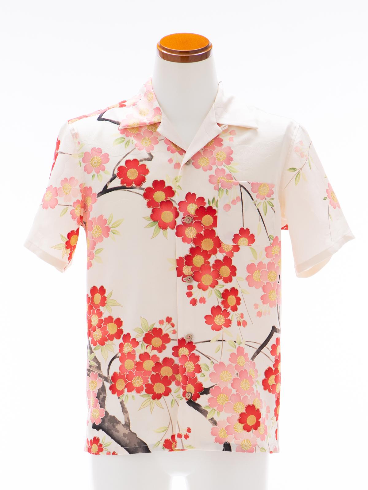 着物アロハシャツ「春の楽しみA」AH100093