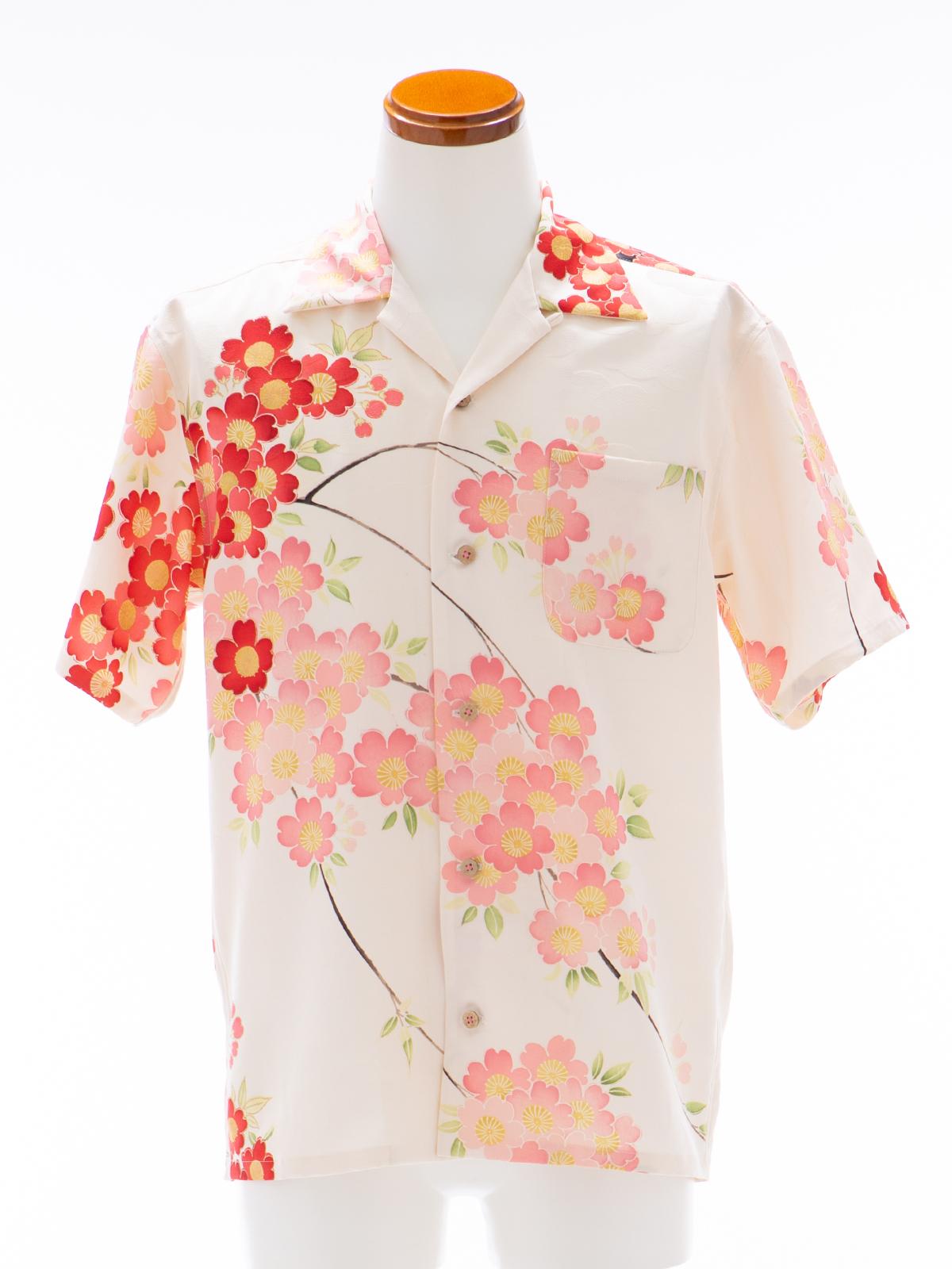 着物アロハシャツ「春の楽しみB」AH100094