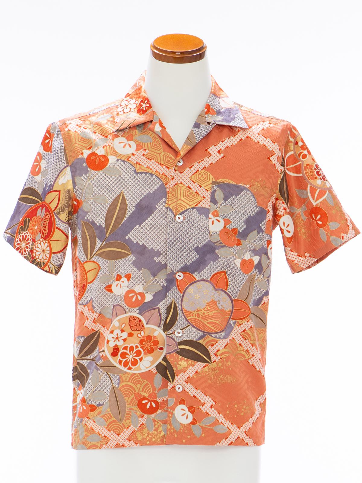 着物アロハシャツ「追憶にふけるA」AH100097