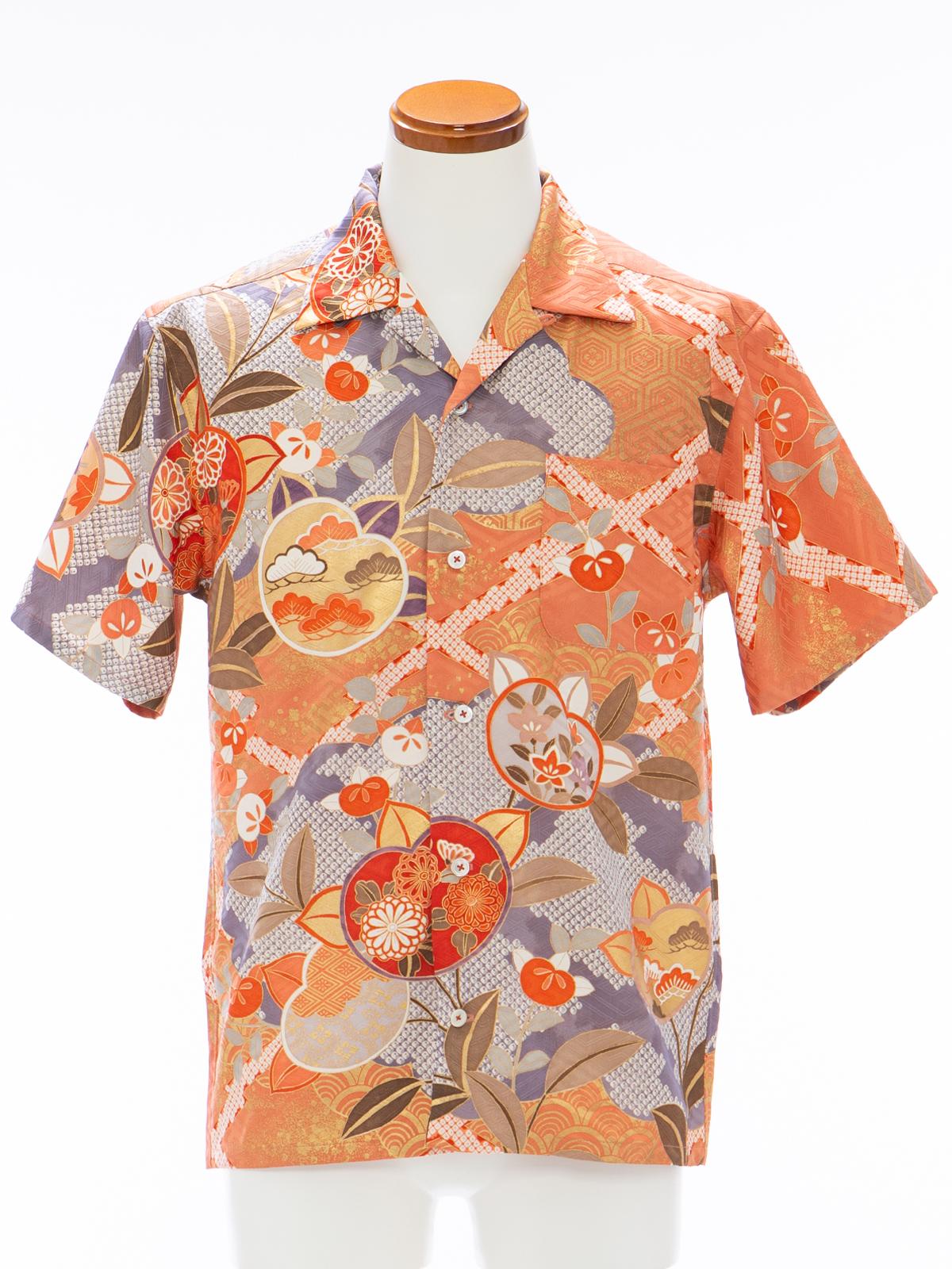 着物アロハシャツ「追憶にふけるB」AH100098