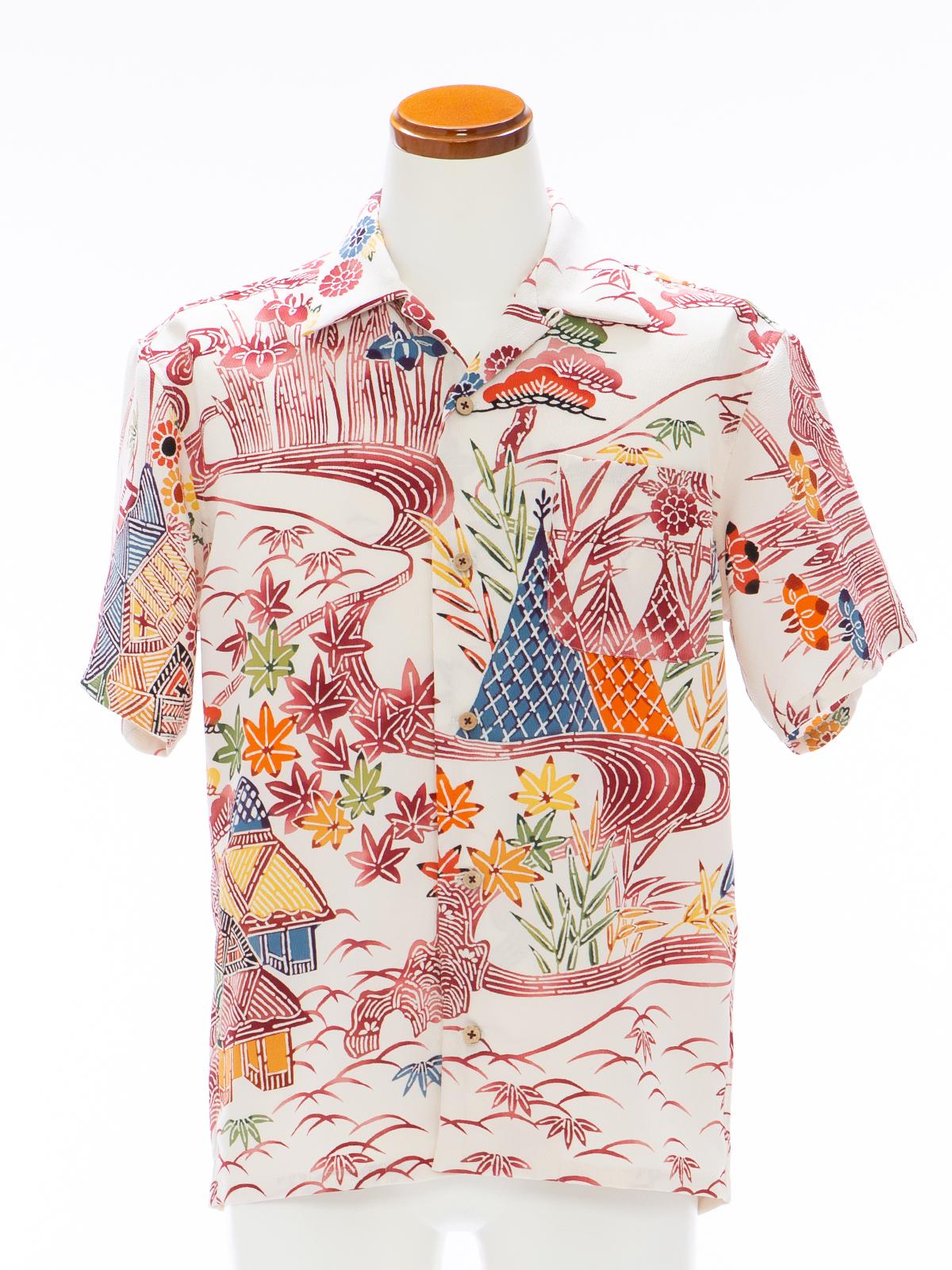 着物アロハシャツ「懐かしの風景A」AH100100