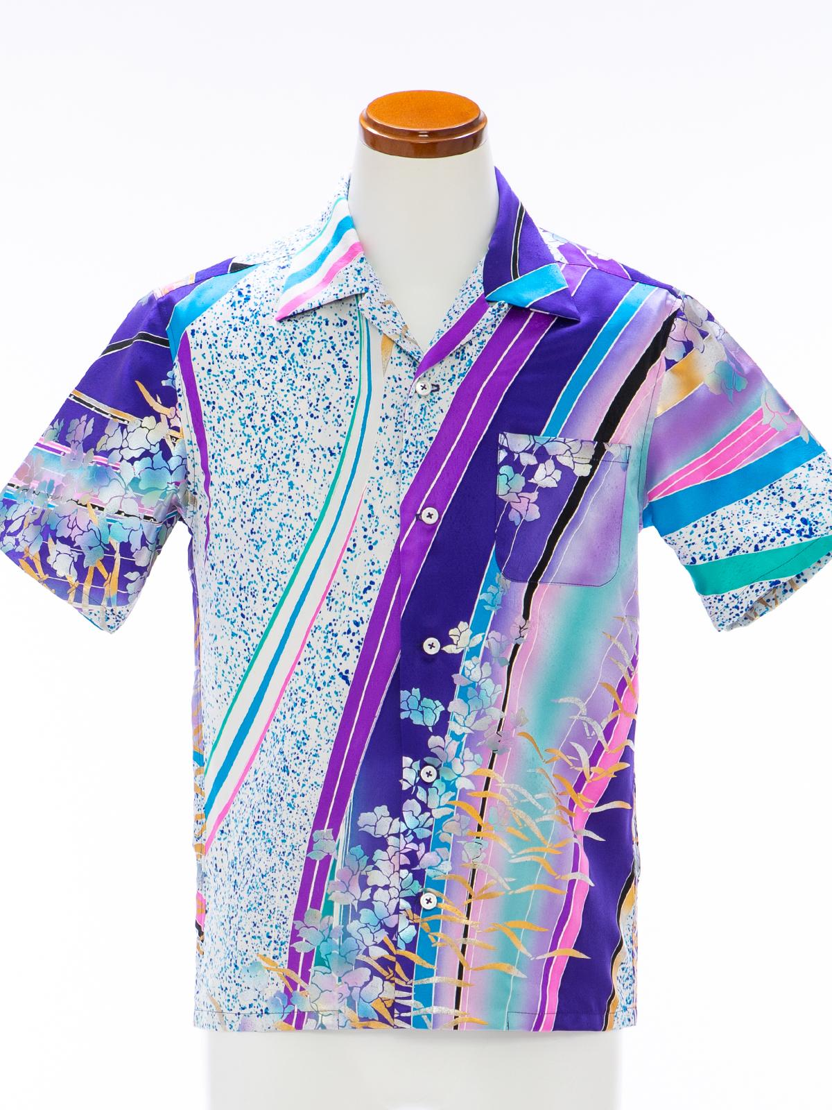 着物アロハシャツ「輝く道筋」AH100103