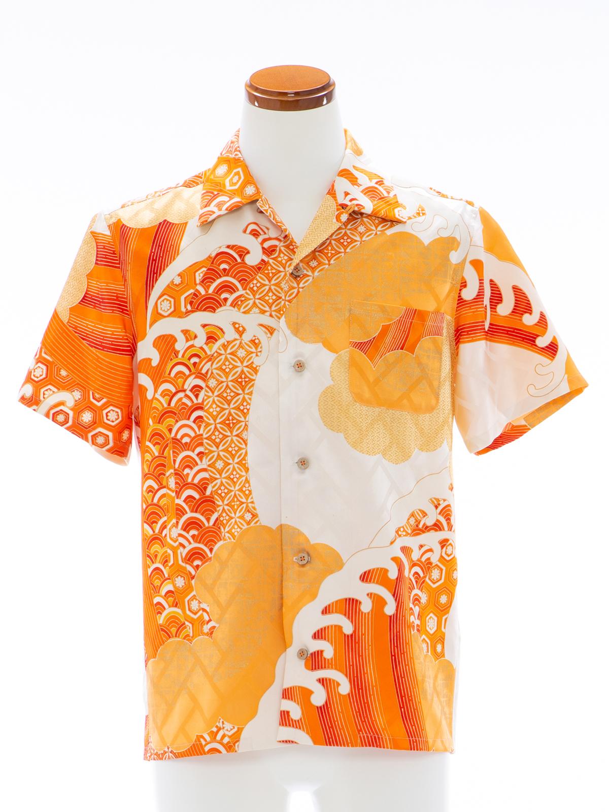 着物アロハシャツ「波打つ宝」AH100107